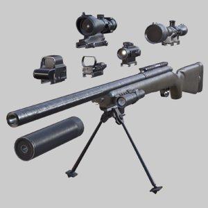 3D m40a1 sniper rifle -