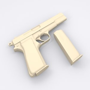 3D browning pistol model