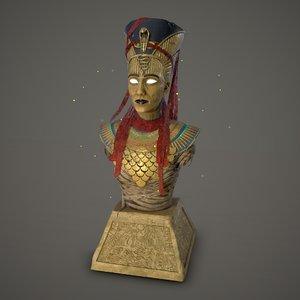 3D bust nefertiti assassin creed model