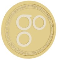 3D omisego gold coin