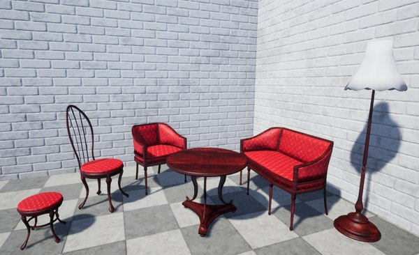 luxuriously furniture 3D