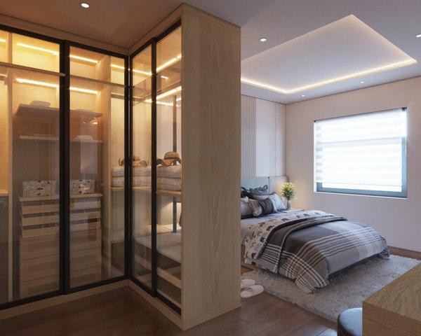 modern bedroom interior design 3D model