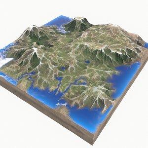 modeled landscape 3D model