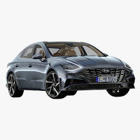 2020 hyundai sonata 3D model