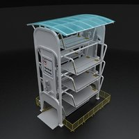 3D model vertical parking