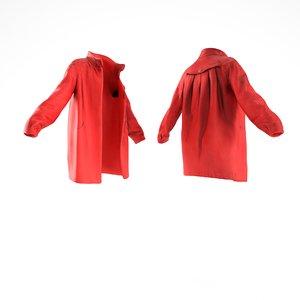 scanned coat red wool 3D model