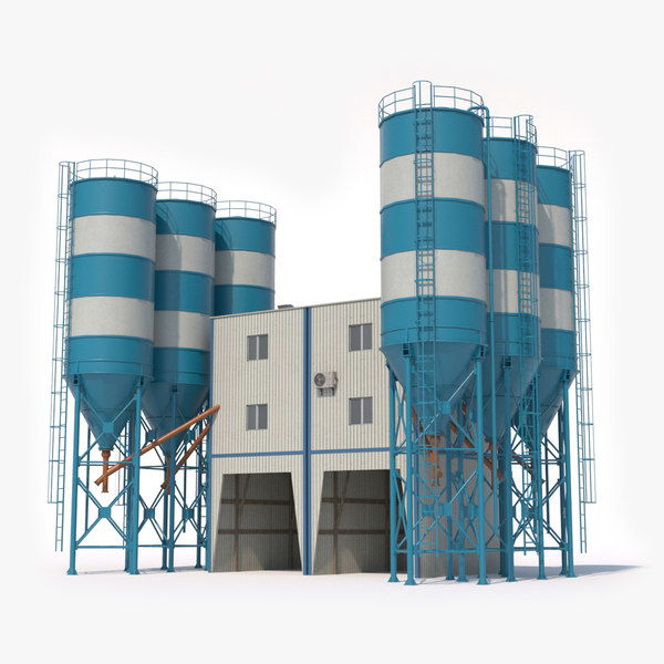 cement mixer plant 3D model