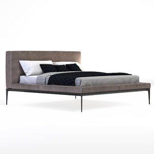 3D yaan bed walter knoll model