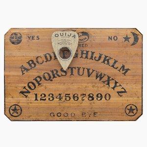 3D ouija board planchette