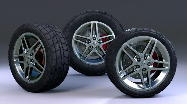 3D tire pack model