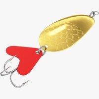 fishing spoon 3D