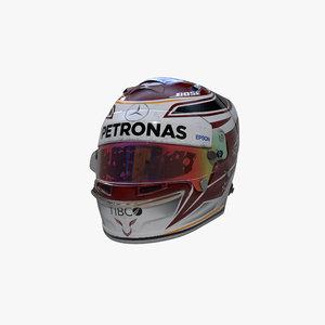 3D hamilton 2019 helmet model