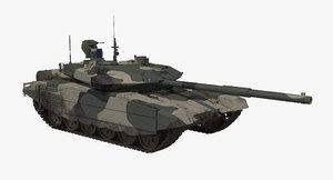 3D model t-90 ms regular dirt