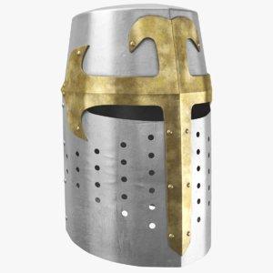3D real medieval helmet model
