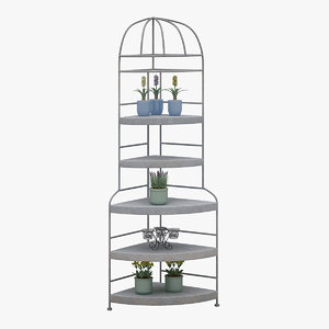 decorative shelve 3D