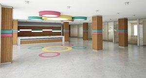 lobby furniture 3D model