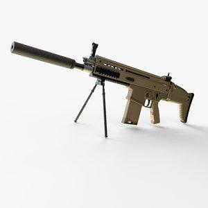 3D assault rifle fn model