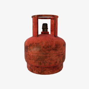propane gas bottle 5l 3D model
