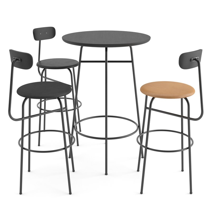 chairs table afteroom bar 3D