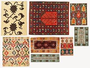 vintage turkish kilim rugs 3D model