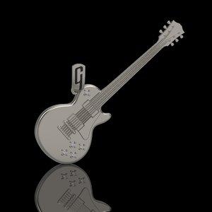 guitar pendant gibson model