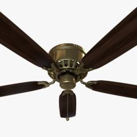 Ceiling Fan - Brass