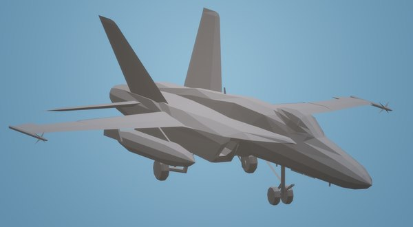 3D f18 super hornet wheels model