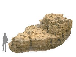 3D morocco sand rock 16k model