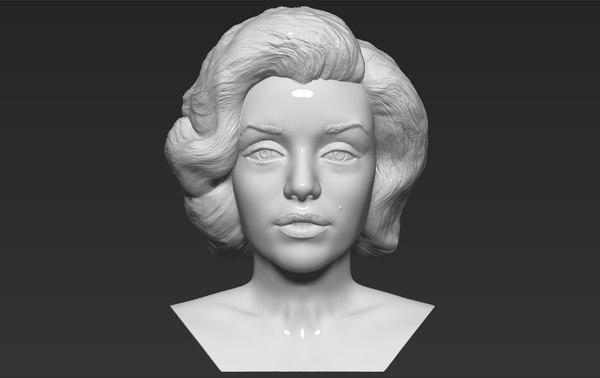 3D marilyn monroe bust ready