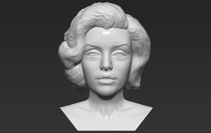 3D marilyn monroe bust ready