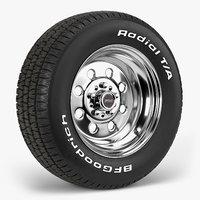 bfgoodrich t draglite wheel 3D model