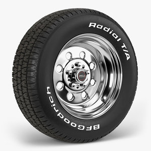 bfgoodrich t draglite wheel 3D model