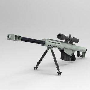 3D model simple barett sniper