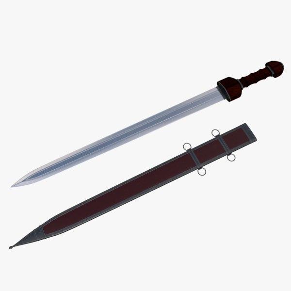3D roman sword model