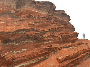 morocco red cliff 3D model
