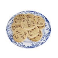 plate chocolate chip cookies 3D