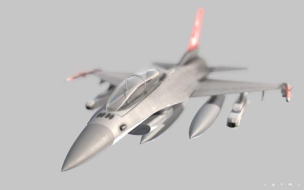 3D f-16 fighter model