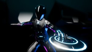rigged tron model