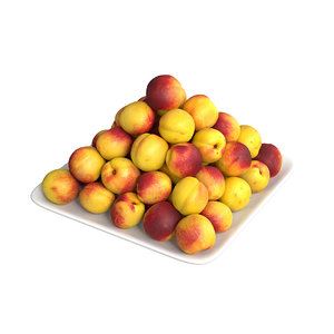 3D realistic nectarines packed model