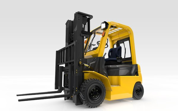forklift animation 3D model