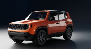 3D model jeep renegade 2016