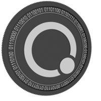 qubitica black coin 3D model