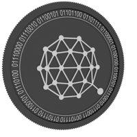 qtum black coin 3D model