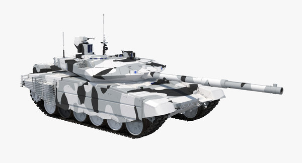 3D model t-90 ms winter clean