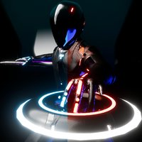 rigged tron rinzler tron:legacy 3D