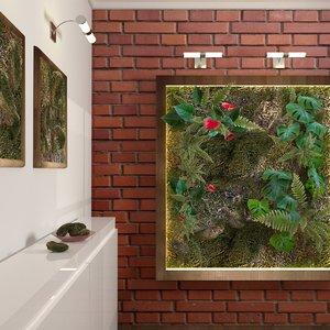vegetal wall model