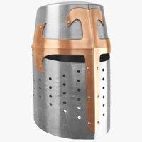 3D real medieval helmet