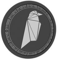 3D ravencoin black coin