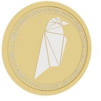 ravencoin gold coin 3D model