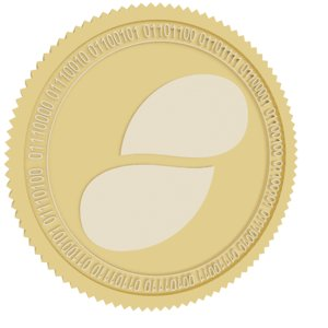 3D model status gold coin